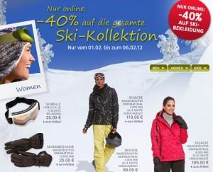 40 rabatt auf die gesamte ski kollektion im c a online shop. Black Bedroom Furniture Sets. Home Design Ideas